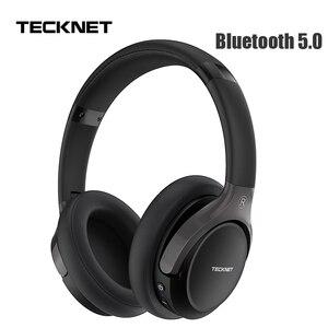 Image 1 - TeckNet składany zestaw słuchawkowy Bluetooth 5.0 z mikrofonem bezprzewodowy zestaw słuchawkowy Bluetooth redukcja szumów Hi Fi słuchawki nauszne stereo z Bluetooth