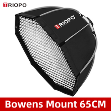 Triopo tr K65 65 centimetri Foto Portabe Bowens Mount Octagon Softbox Ombrello + Griglia A Nido Dape Outdoor Soft Box per Studio Strobe
