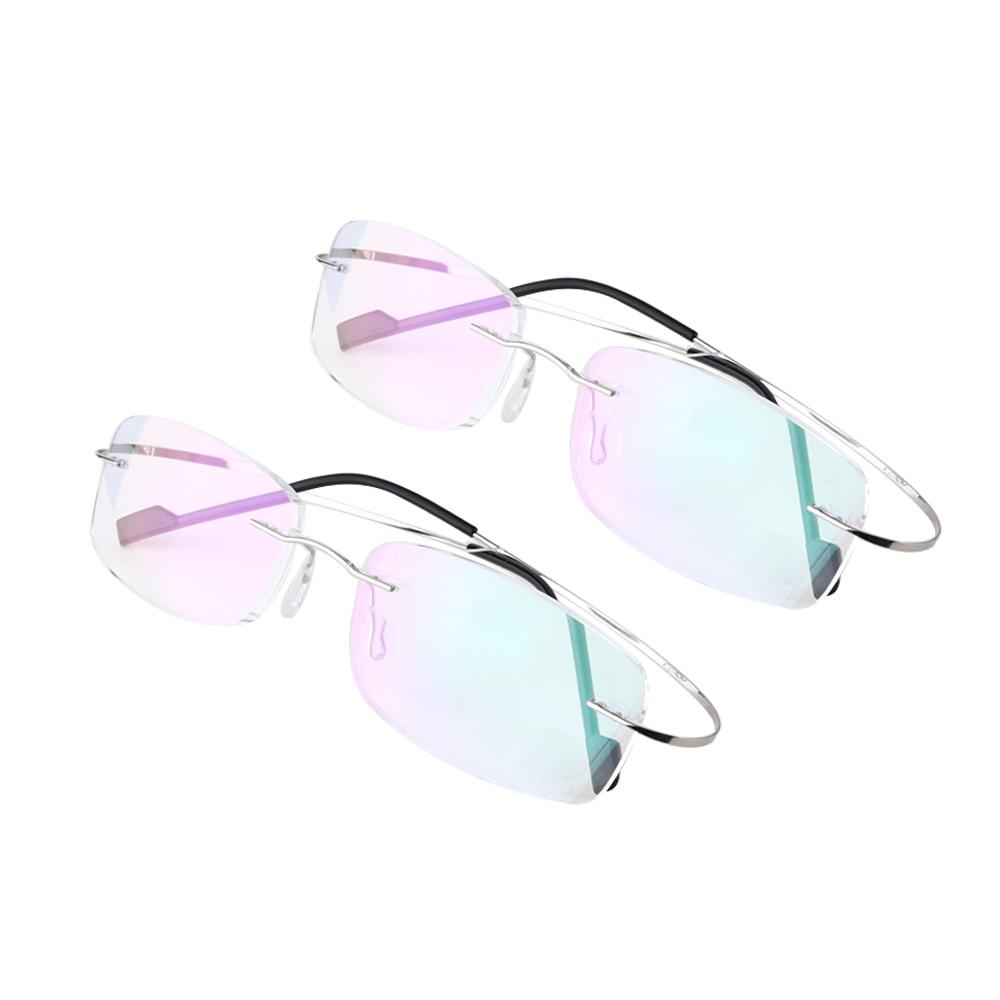 Очки для чтения без оправы для мужчин и женщин, модные титановые Магнитные прозрачные очки с эффектом памяти, гибкие сверхлегкие пресбиопич...