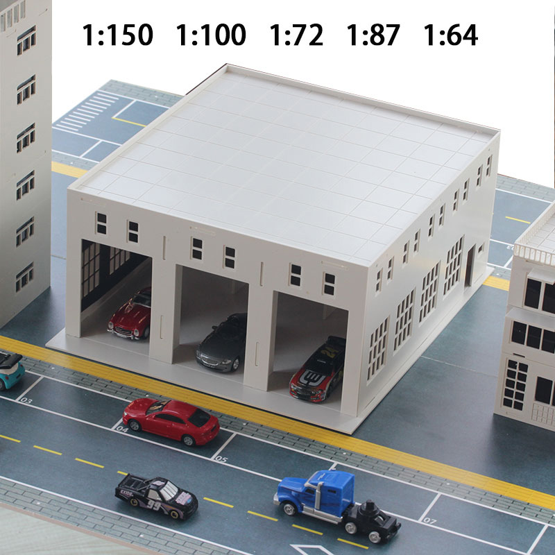 Miniature  Sand Table Material  Garage  Car Washroom  Factory Workshop  Warehouse  Assembly Model Ornaments  1:150/100/87/72/64