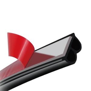 5M B Shape Car Rubber Strip Car Door Seal Strips Sticker Weatherstrip Rubber Seals Sound Insulation Sealing Car Accessories
