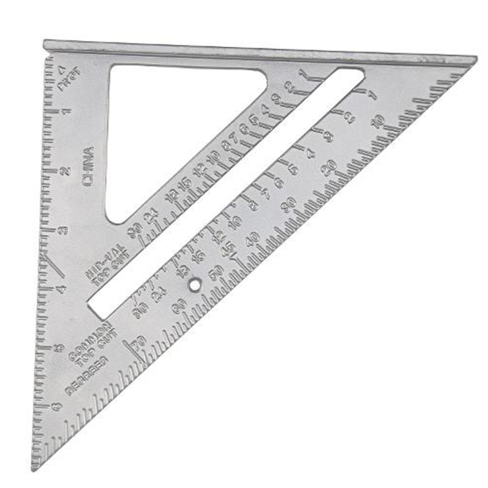 Angle Square High Hardness Wear Resistant Metric Rustproof Metal Measuring Tool Woodworking 90 Degrees Durable Triangle Ruler