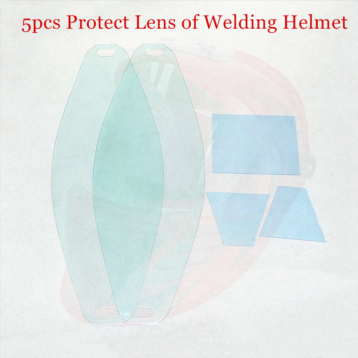Protect Lens Front Inner Cover Lens 5pcs/set for 3 View Window Auto Darkening Welding Mask CE ANSI CSA AS/NZS Welding Helmet(China)