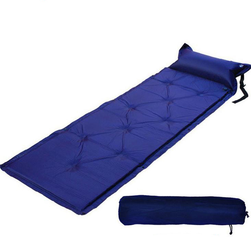 Thick 2.5CM Outdoor Air Automatic Inflatable Mattress Bag Camping Pad Picnic Mat Seat Foam Waterproof Can Be Spliced Mattress