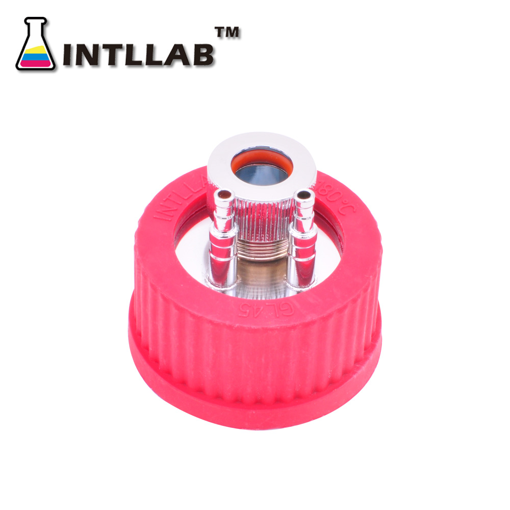 INTLLAB  GL45 Universal Reaction Bottle Cap Fermentation Tank Feeding Cover With 316 Stainless Steel
