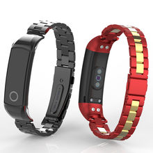 Honor Band 4 5 Metal Strap for Huawei Honor Band 5 Smart Bracelet Wristband(China)