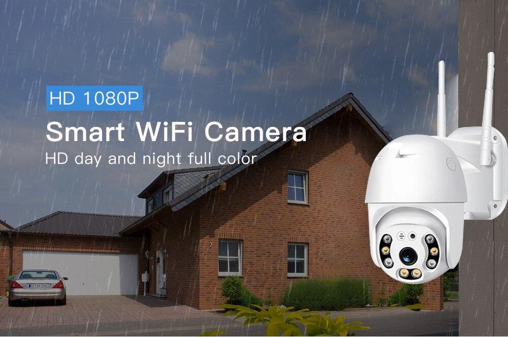 He9b9d77cec224109b0efe980f7f0da4fV SDETER 1080P PTZ Security WIFI Camera Outdoor Speed Dome Wireless IP Camera CCTV Pan Tilt 4X Zoom IR Network Surveillance 720P