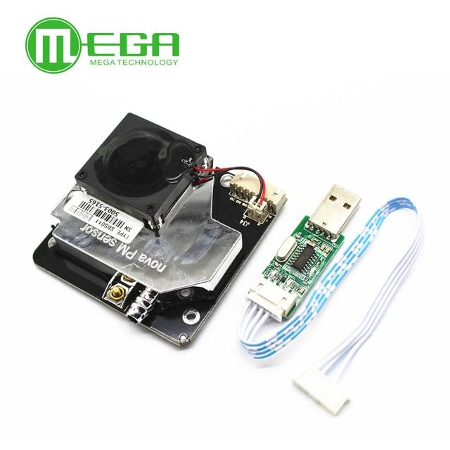 PM الاستشعار SDS011 ليزر عالي الدقة Pm2.5 جودة الهواء جهاز استكشاف وحدة مصلحة الارصاد الجوية الكهربائية لعبة Megmoki 2.6 10 فولت ستادارد