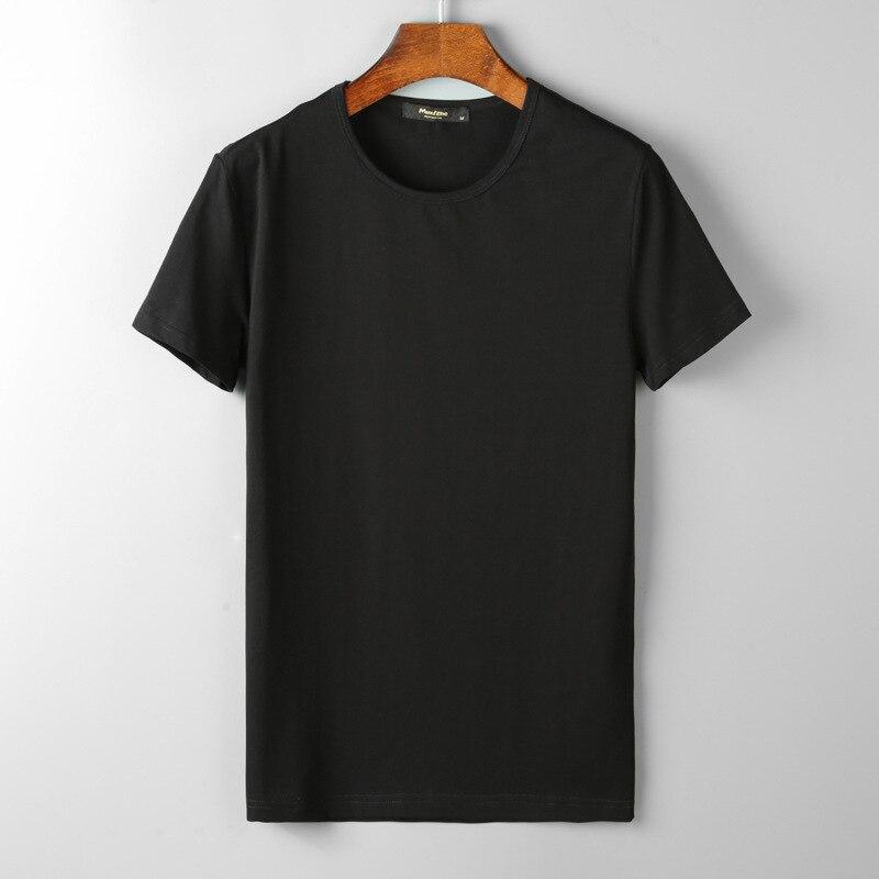 Новинка 2019, летняя мужская футболка из 95% хлопка, повседневная мужская футболка с коротким рукавом