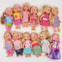 10PCS/LOT Simba Doll With clothes 11cm Mini Kelly Dolls Toys For Girls Birthday Gift