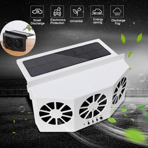High-power Dual-mode Solar Powered Car Cooler Window Radiator Exhaust Fan Auto Air Vent Fan Ventilation Radiator Cooling System(China)