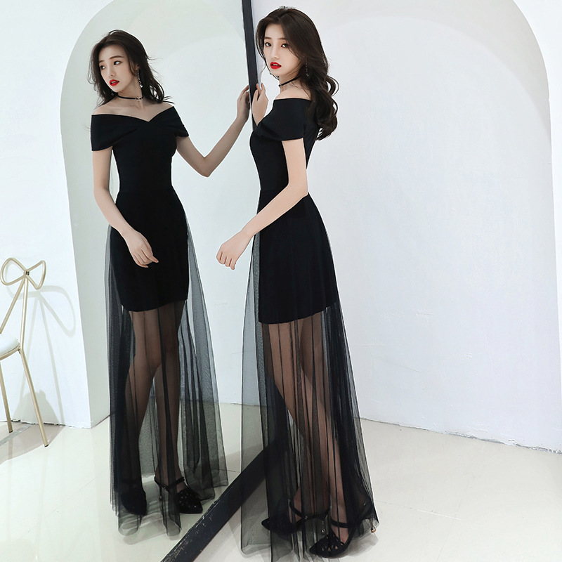Prom Dresses Long Evening Dress Women 2020 Fashion Sexy Banquet Noble Temperament Long Style Gas Field