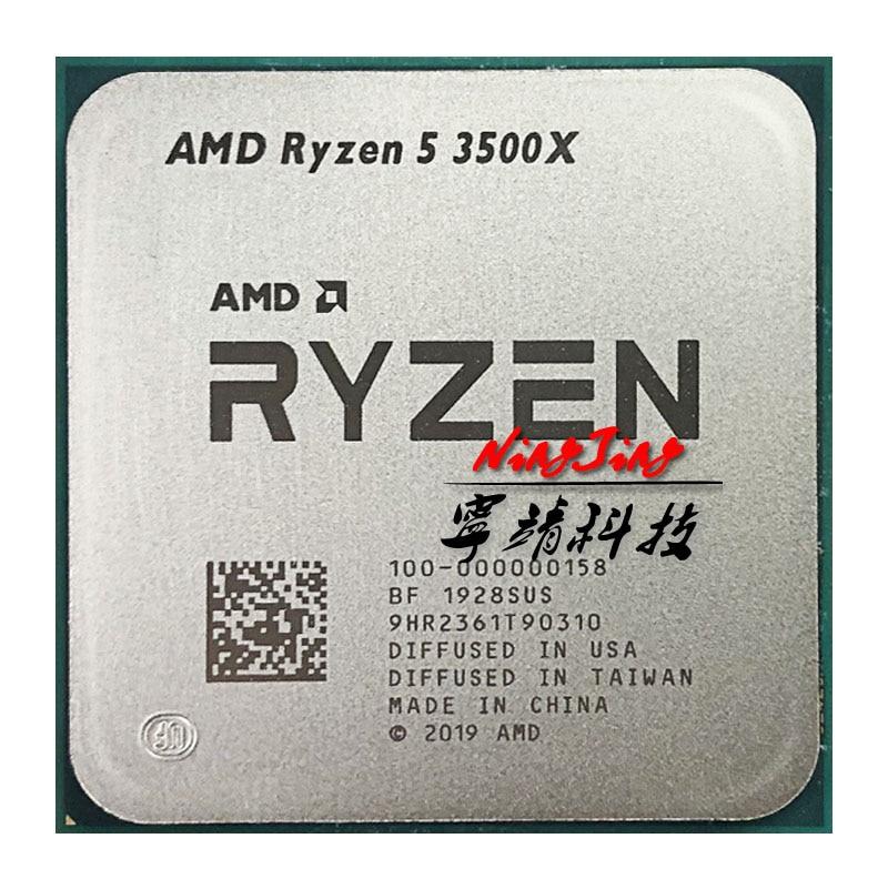 AMD CPU Processor 3500x3.6-Ghz R5 7NM AM4 100-000000158-Socket Six-Thread 65W L3--32m
