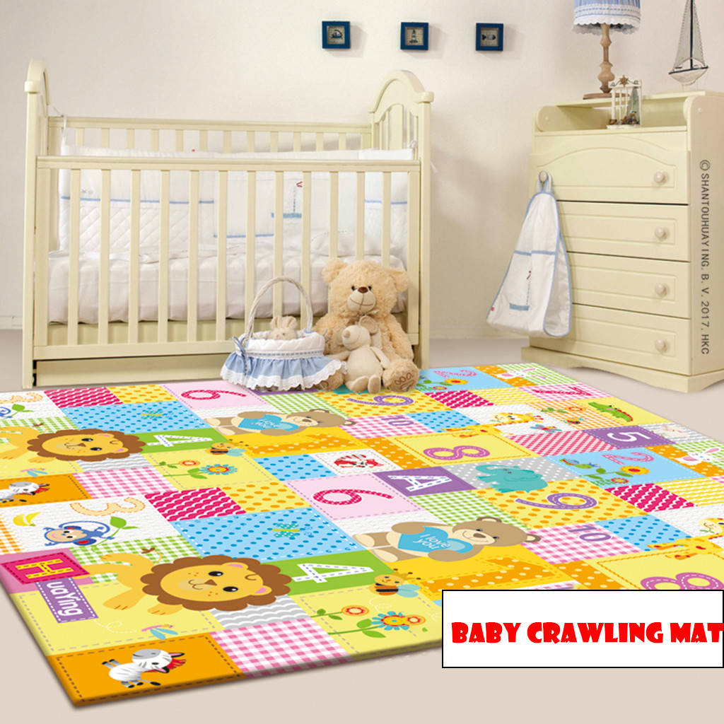 Baby Play Mat Large Double Sides Non-Slip Waterproof Portable For Playroom Baby Carpet Soft Mat For Newbron Baby