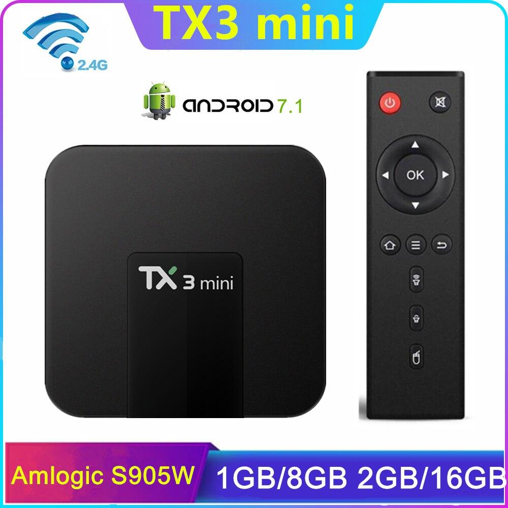 TX3 Mini Smart TV Box Android 7.1 Amlogic S905W Quad Core 4K 2GB 16GB H.265 2.4G WiFi 1GB 8GB Media Player