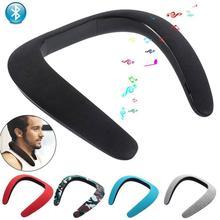k8 15w wireless bluetooth microphone with speaker Stereo Wireless Bluetooth Wear U-Type Bib Speaker Neck 3D Ergonomic Bluetooth Stereo Outdoor Wireless Microphone Speaker R4Q1
