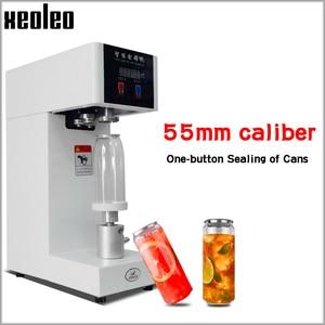 Image 1 - XEOLEO máquina selladora de latas de 55mm, selladora de botellas de bebida para 330ml/500/650ml, sellador de latas de té de la leche PET/Café, 220V/110V
