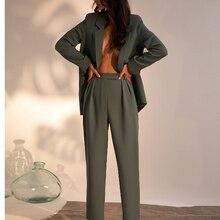 cusomized Pants suit Womens Business Suits 2 Pcs Se
