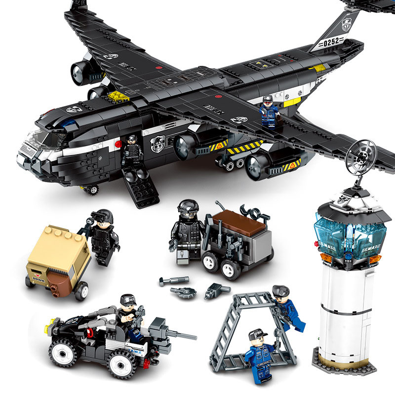 Toys For Children Special Team Large Transport Model Kit Compatible Legoing Educational Assembled Building Blocks Kids Gifts I77