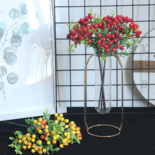 цена на Berry Artificial Flower Bunch Bridal Wedding Berry for Party Foam Bouquet Table Decoration Branch Fake Flower Home Decor