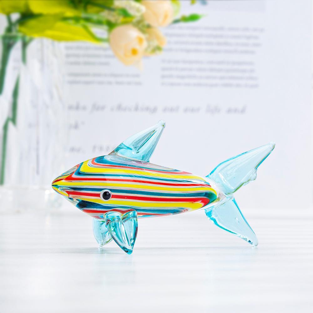 crystalsuncatcher Glass Tropical Fish Figurine,Hand Blown Sea Animal Ornament
