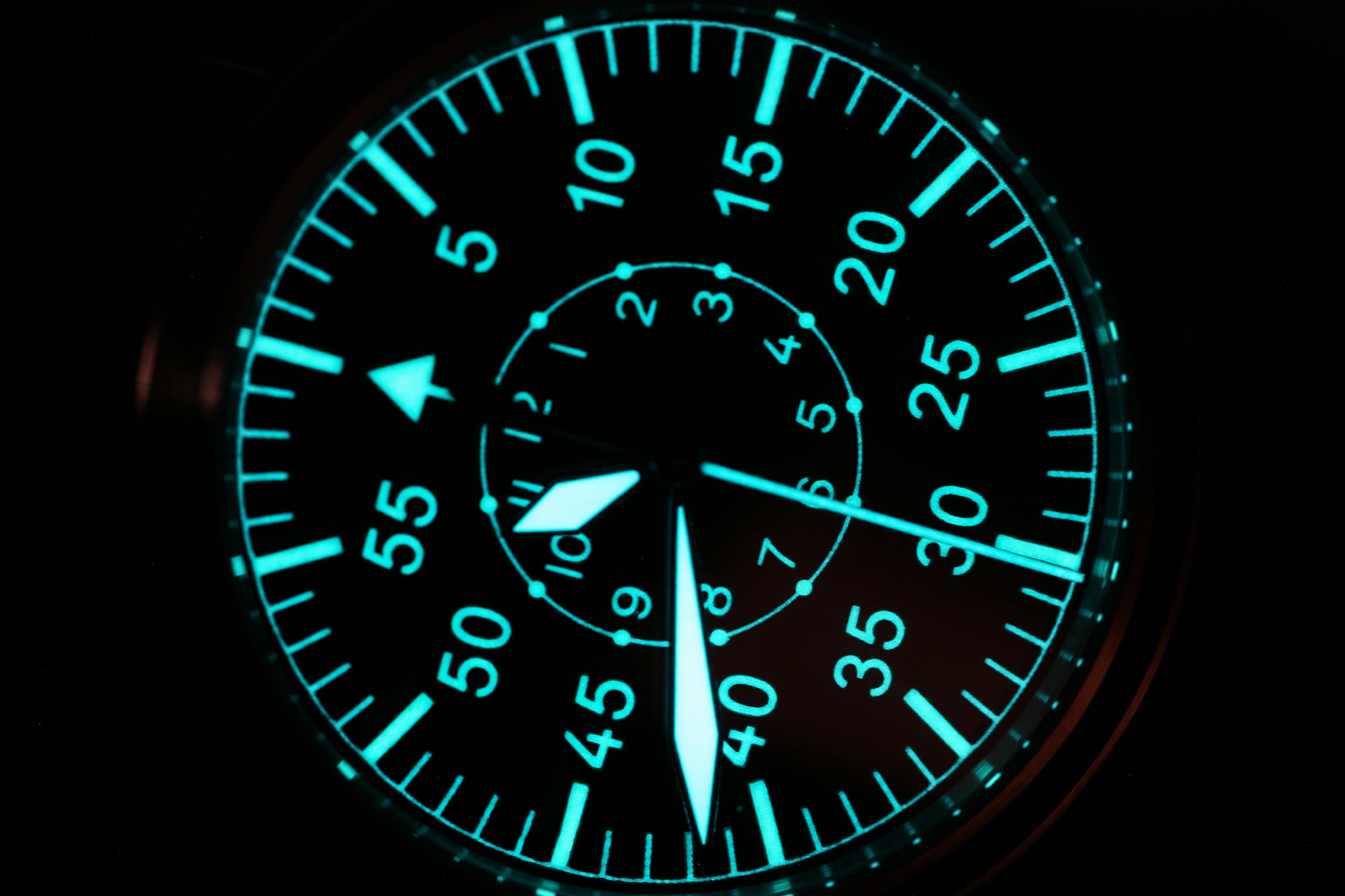 【Escapement Time】Automatic NH35 Movement Pilot Watch with Type-B or Type-A Black Dial and 42mm Case waterproof 300M 5