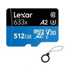 Оригинальная карта памяти Lexar 633x512GB Micro SD 256GB 64GB высокая скорость до макс. 95 м/с 128GB C10 для Gopro nintendo switch