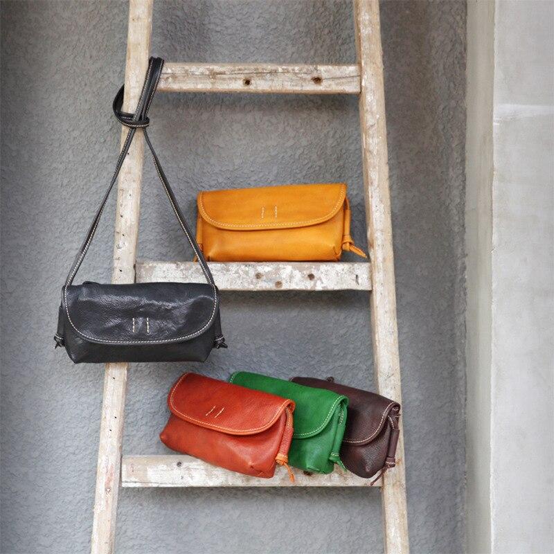 2020 New Original Retro Planted Leather Woman\'S Bag Single Shoulder Messenger Bag