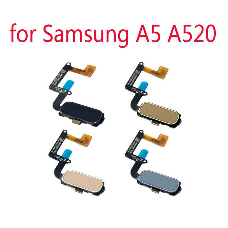 Home Button Fingerprint For Samsung A520 A5 2017 A520F A520K A520L A520S A520W Original Phone New Housing Button Key Flex Cable