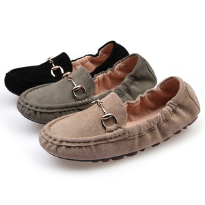 Image 2 - New Summer Moccasins Femme Shoes Woman Loafers 2020 Oxford Shoes for Women Flats Casual Black Green Soft Brand Designer loafers