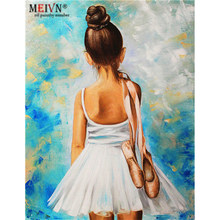 Meivn Frame Diy Oil Painting By Numbers Ballet Back Acrylic Paint By Numbers Kit Canvas Painting Wall Art For Home Decors Gifts(China)