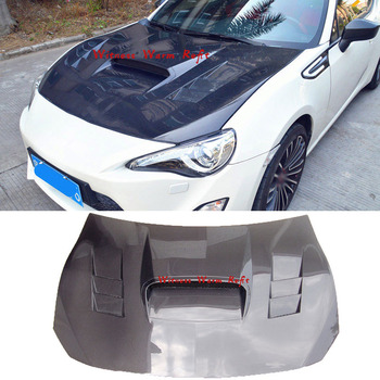 For Toyota GT86 bonnet High Quality Carbon Fiber engine hood cover For Subaru BRZ Bonnets engine Cover body kit 2013 14 15 16 17 image
