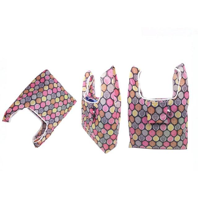 GABWE New Flamingo Recycle Shopping Bag Eco Reusable Shopping Tote Bag Cartoon Floral Shoulder Folding Pouch Handbags Printing 2