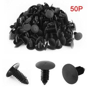 Universal 50 Uds Clips de coche guardabarros Escudo de parachoques retenedor Auto Ajuste 8mm agujero plástico remache estilo de coche