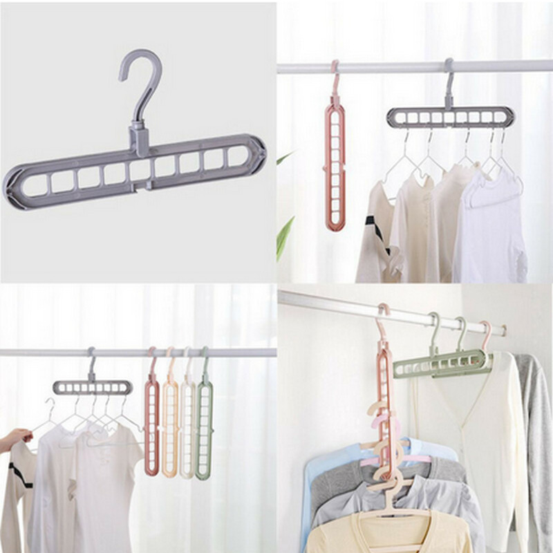 NEW 9 Hook Space Saver Saving Wonder Metal Magic Hanger Free Shipping Clothes Closet Organize Hook Grey Clothes Hook 2019 Hot