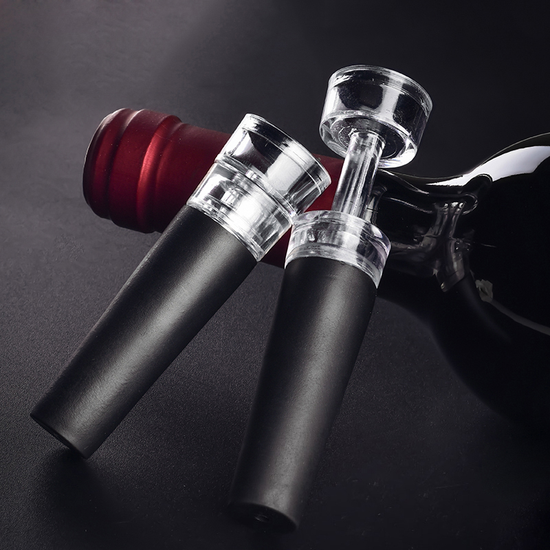 Hot Vacuum Wine Bottle Opener Stopper Portable Pressure Cork Pops Pumps Wine Preserver Household Drinking Accessories Bar Tools