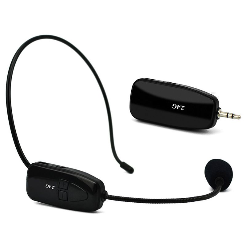 2.4G Wireless Microphone Headset Megaphone Radio Bluetooth Microphone For Speech Loudspeaker Teaching Meeting Guide