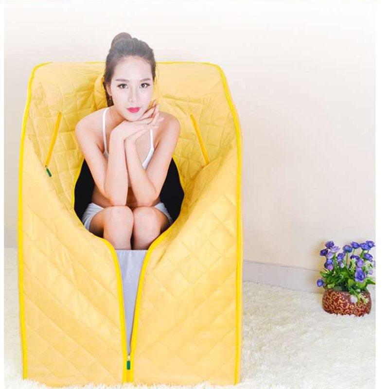 Portable Infrared Sauna Slimming Negative Ion Detox Therapy Room Folding Chair Cabin room bath