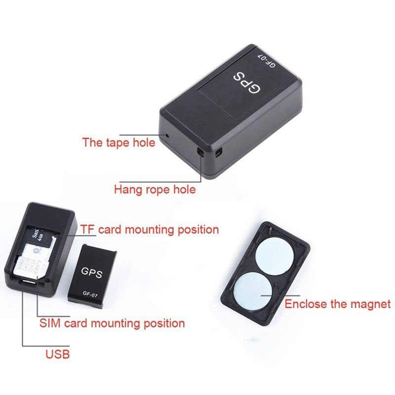 Mini GPSสแตนด์บายแม่เหล็กSOS Tracker Locator Anti-Theft/รถGps Tracker Anti-Lostการบันทึกติดตามอุปกรณ์ควบคุมเสียง