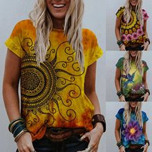 Mode d'été femmes Imprimé T-shirt Femme À Manches Courtes Décontracté Harajuku Tee T-shirts Femmes Imprimer Vintage Hauts Vêtements