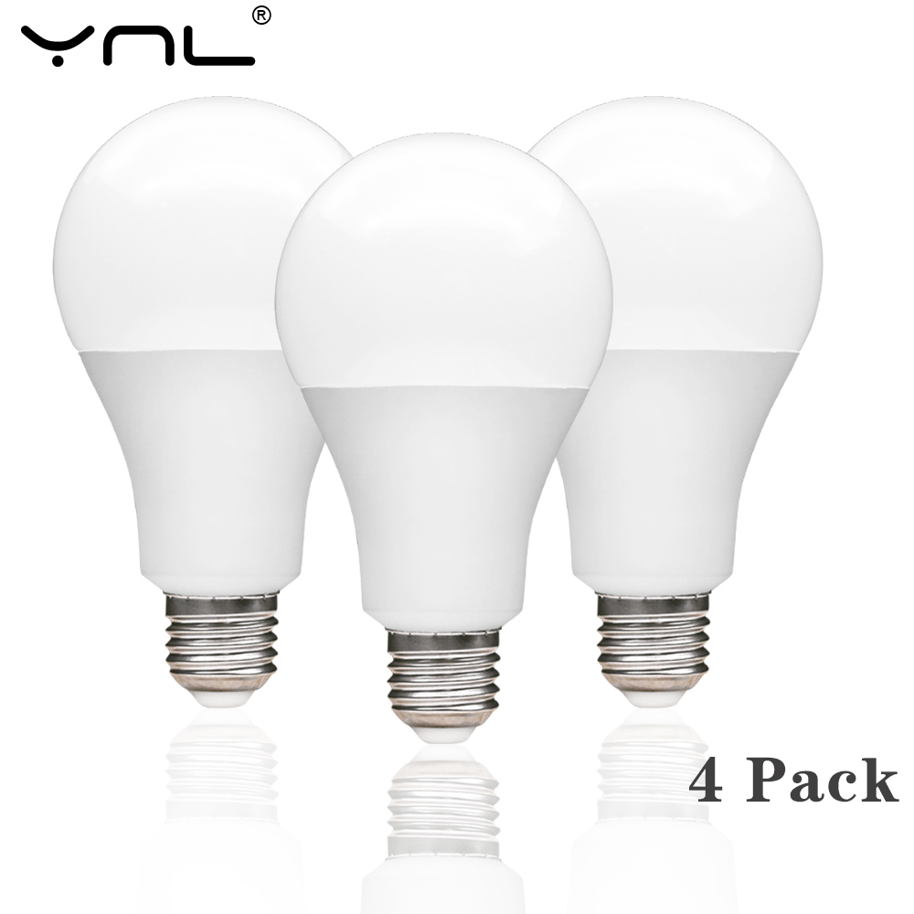 4pcs/lot E27 LED Lamp Bulb AC 220V 240V Real Power 3W 6W 9W 12W 15W 18W High Brightness LED Light Bulb For Table Lamp Spotlight