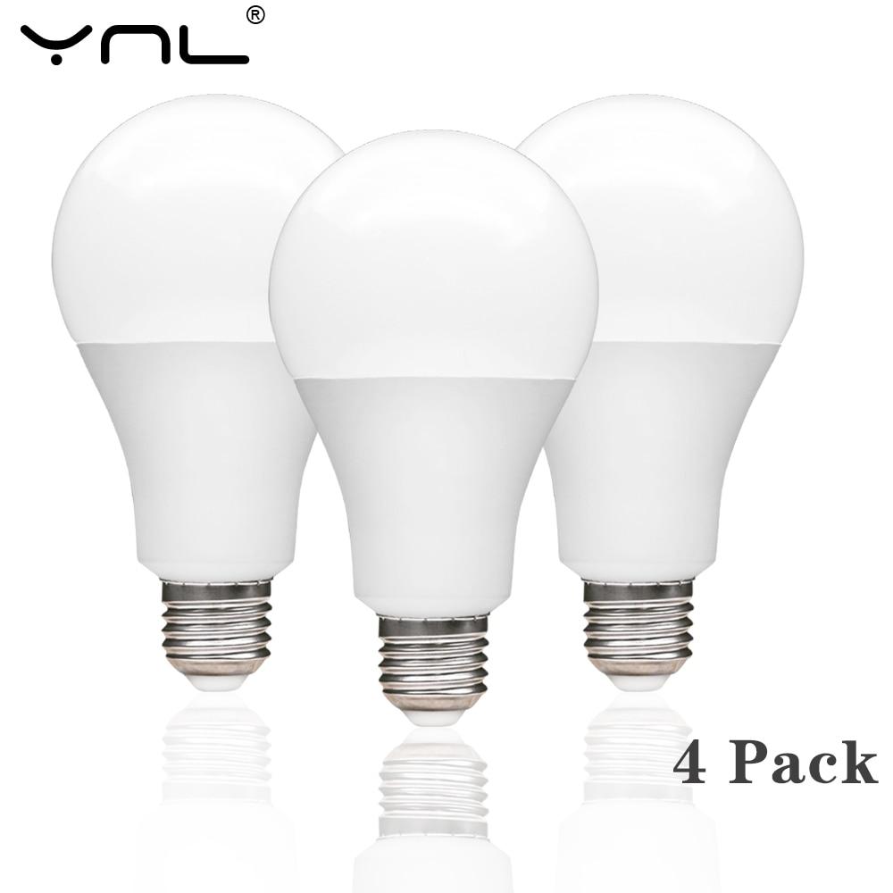 4pcs/lot E27 LED Lamp Bulb AC 220V 240V Real Power 3W 6W 9W 12W 15W 18W High Brightness LED Light Bulb For Table Lamp Spotlight
