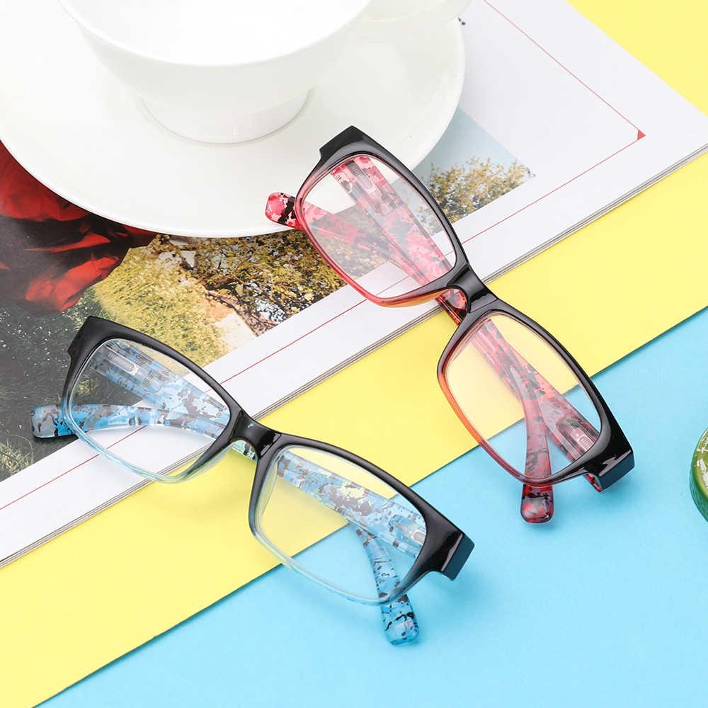 แว่นตาผู้ชายผู้หญิงบานพับเรซินแว่นตาแว่นตาแฟชั่นแว่นตาสายตา Diopters + 1 + 1.5 + 2 + 2.5 + 3 + 3.5 + 4