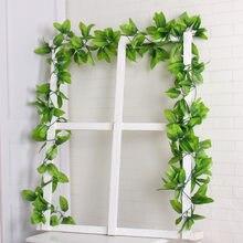 81 stücke blätter Grün Künstliche Creeper Blatt Ivy Reben Für Home Hochzeit Wand Dekoration Gefälschte Pflanzen DIY Hängen Girlande Blumen