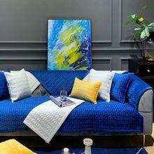 Зимний плюшевый чехол для дивана простой плотный Роскошный плед