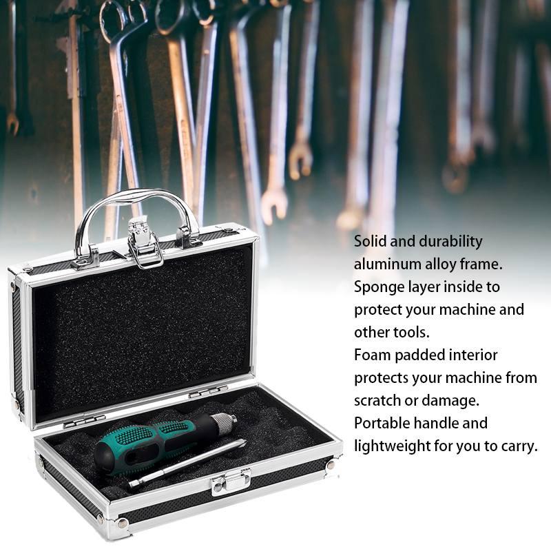 DealüBox-Storage Sponge Organiser Carry-Case Inside-Tool Travel Aluminum-Alloy Portable Lightweight