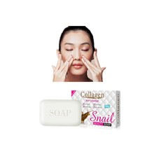 Buy Soft skin whitening and nourishing facial soap bath shampoo prevents acne and eliminates mite snail protein moisturizing soap directly from merchant!