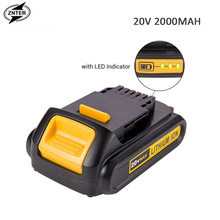 ZNTER 20V 2.0A 2000mah Rechargeable Li-ion Battery Portable Replacement Battery Backup Battery For Dewalt Electric Power Tool цена 2017