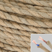 Vintage Braided Rope Wire Electrical Cable For Edison Pendant Lamp Fitting Rope(China)