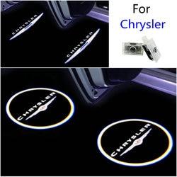 2 pçs carro conduziu a luz da porta do projetor laser logotipo decorar luz para chrysler 300 300c 200 sebring fr js jr lancia thema acessório